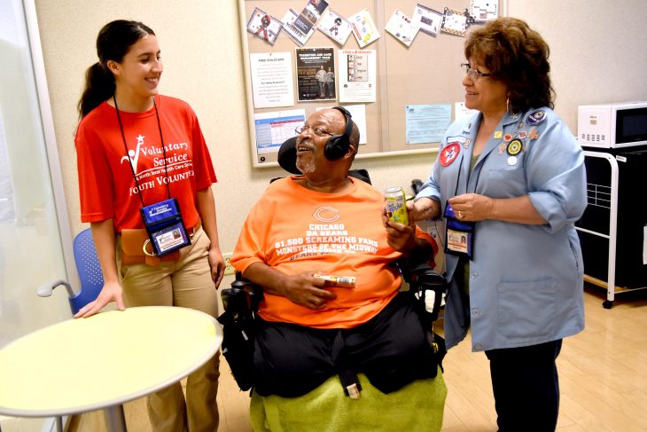 Three generation of family volunteer service at VA.