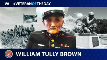 Veteran of the Day graphic for William Tully Brown.