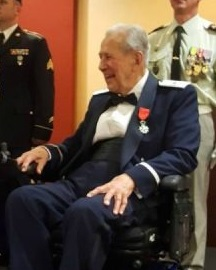 Brigadier General Leo LaCasse receives the French Legion of Honor Medal