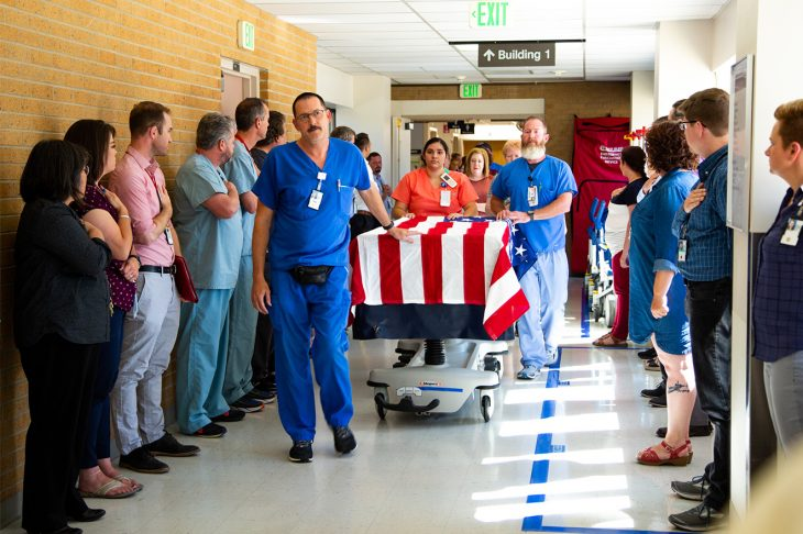 VA Photos of the Week - Veteran's final salute