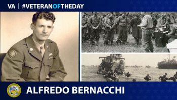 Today's Veteran of the Day is Alfredo Bernacchi.