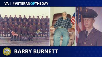 Cold War Army Veteran Barry Burnett is today's #VeteranOfTheDay.