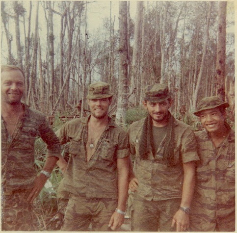 Ho Chi Minh Trail, 1969. David Lucier (Borne the Battle Ep. 148)  is second from the left, Charlie Challela is second from the right.