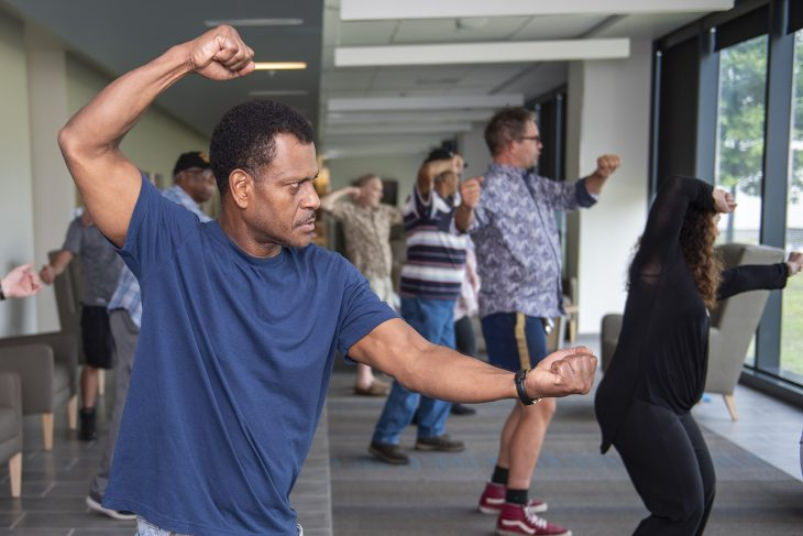 VA Photos of the Week - Veteran practices tai chi