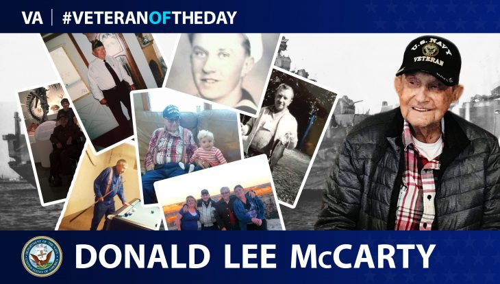 Donald McCarty is today's Veteran of the Day.