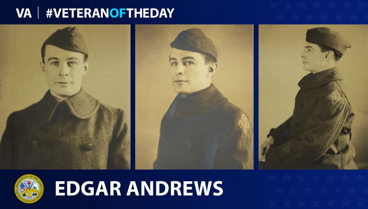 Army Veteran Edgar Andrews is today's Veteran of the Day.