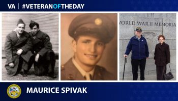 Maurice Spivak is today's #VeteranOfTheDay.
