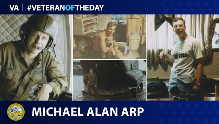 Army Vietnam Veteran Michael Alan Arp is today's #VeteranOfTheDay.