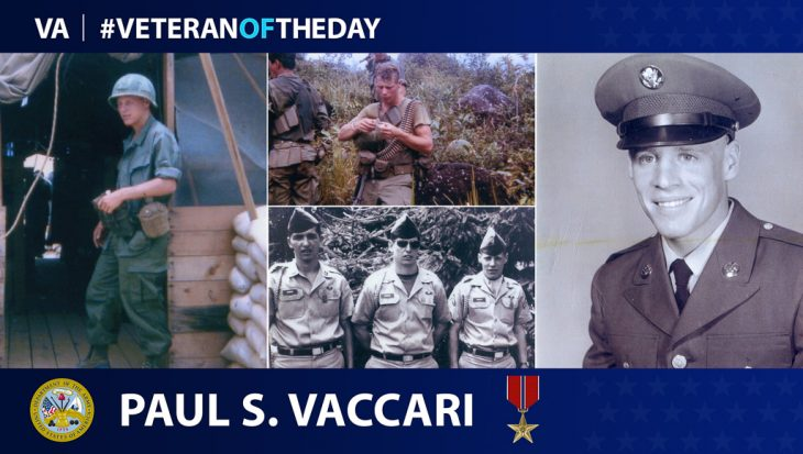 Paul Vaccari is today's #VeteranOfTheDay.