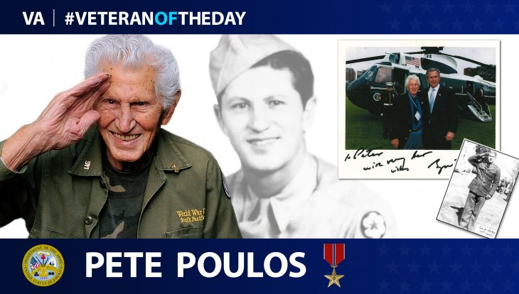Army and WWII Veteran Pete Poulos is today's #VeteranOfTheDay.