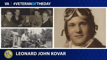 Today's Veteran of the Day is Leonard Kovar.
