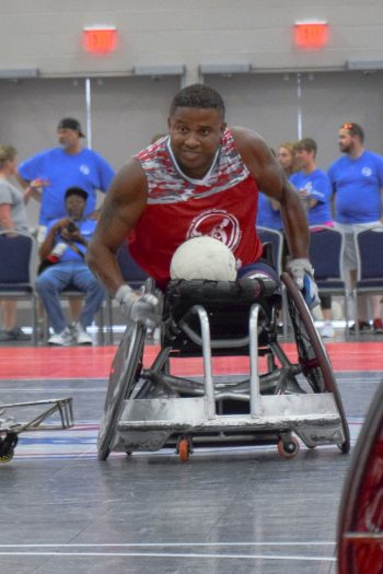 Ryan Major wants the gold in rugby at the National Veterans Wheelchair Games in Louisville, Kentucky.