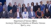 The 2019 VA Homeless Veterans Advisory Committee recent met to assess VA's programs.