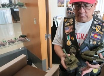 Collecting figurines has helped Stanley Vigil battle PTSD.