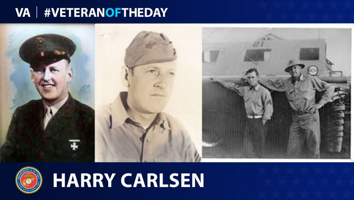 "Harry ""Bud"" Carlsen is today's Veteran of the Day."