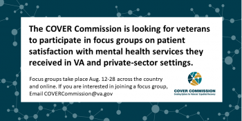 COVER Commission wants to hear from you about your mental health care experiences.