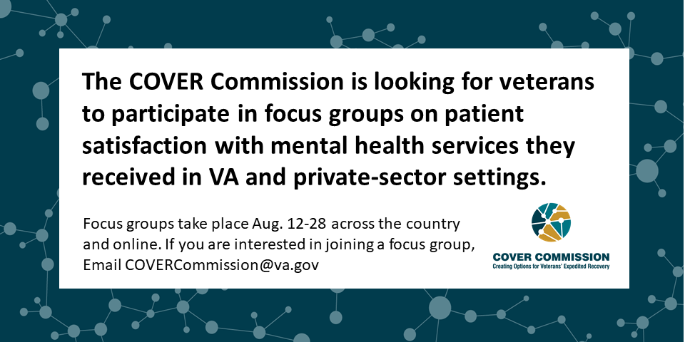VA COVER Commission wants to know your mental health care