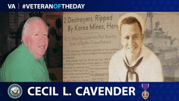 Cecil Cavender is today's Veteran of the Day.