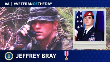 Jeffrey Bray is today's Veteran of the Day.