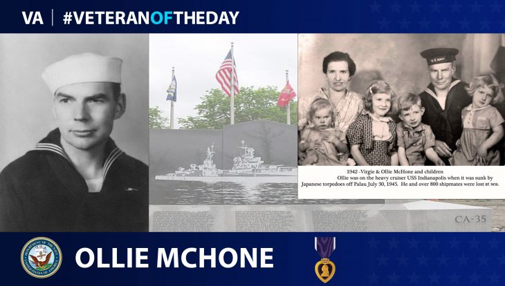 Ollie McHone is today's Veteran of the Day.