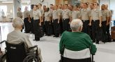 Navy sailors visit Oklahoma VA.