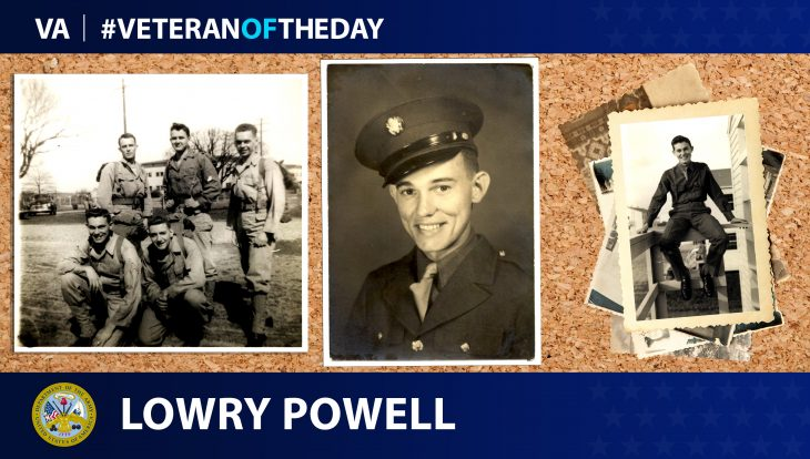 Lowry Powell is today's Veteran of the Day.