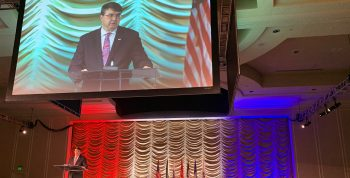 VA Secretary Robert Wilkie speaks at the 2019 VA/DoD Suicide Prevention Conference.