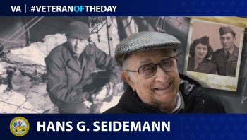 Hans Seidemann is today's Veteran of the Day.