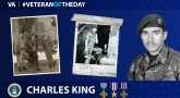 Charles King is today's Veteran of the Day.