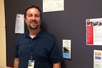 Jason Riddle, a social worker with the VA in Indianapolis, works with the Clubhouse organization to assist and refer Veterans with severe mental illness .