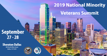 The 2019 National Minority Veterans Summit is Sept. 27-28.