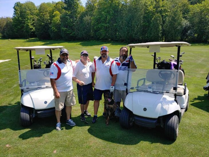 Shannon Blake and golfers at the TEE Tournament