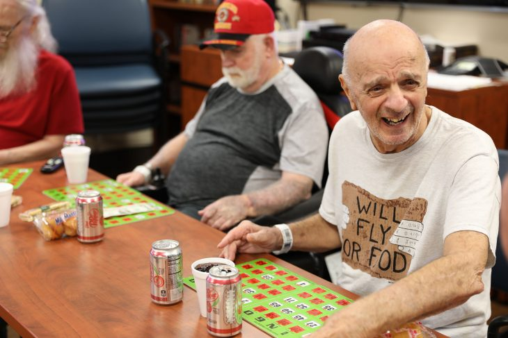 Veterans play BINGO at VA CLC.