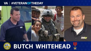 "Army Veteran Stephen ""Butch"" Whitehead is today's Veteran of the Day."
