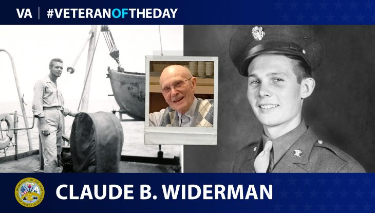 Army Veteran Claude B. Widerman is today's Veteran of the Day.