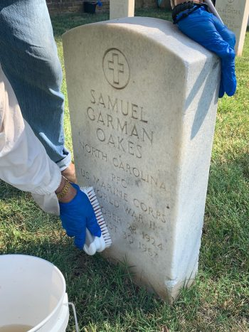 Carry The Load volunteers cleaned headstones at 40 national cemeteries during the national day of service 9/11.