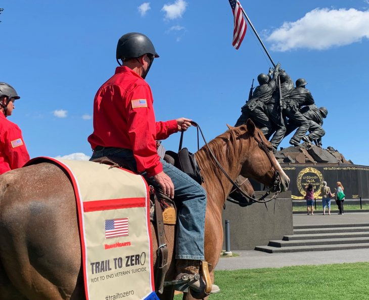 Veterans ride horses in northern Virginia.