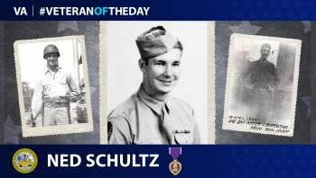 Army Veteran Ned Schultz is today's Veteran of the Day.