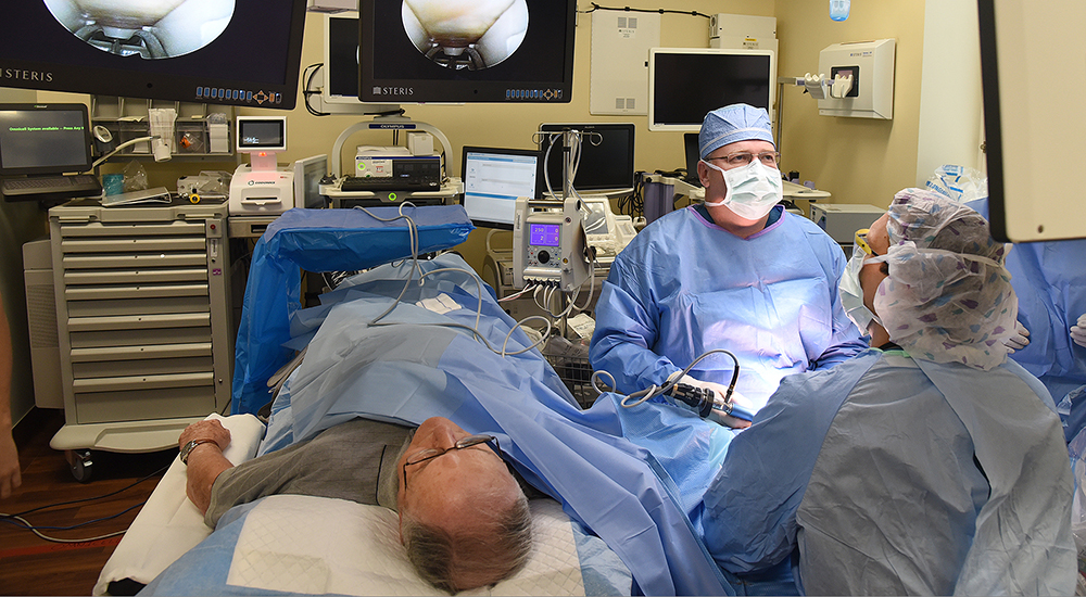 Picture of a patient undergoing hand surgery in a VA hospital