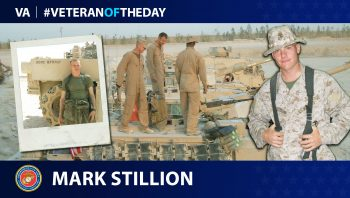 Marine Veteran Mark Stillion is today's Veteran of the Day.