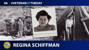 Army Veteran Regina Schiffman is today's Veteran of the Day.