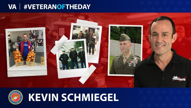 Marine Corps Veteran Kevin Schmiegel is today's Veteran of the Day.