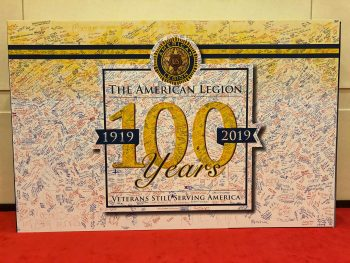 American Legion Annual Convention poster signed by Veterans.