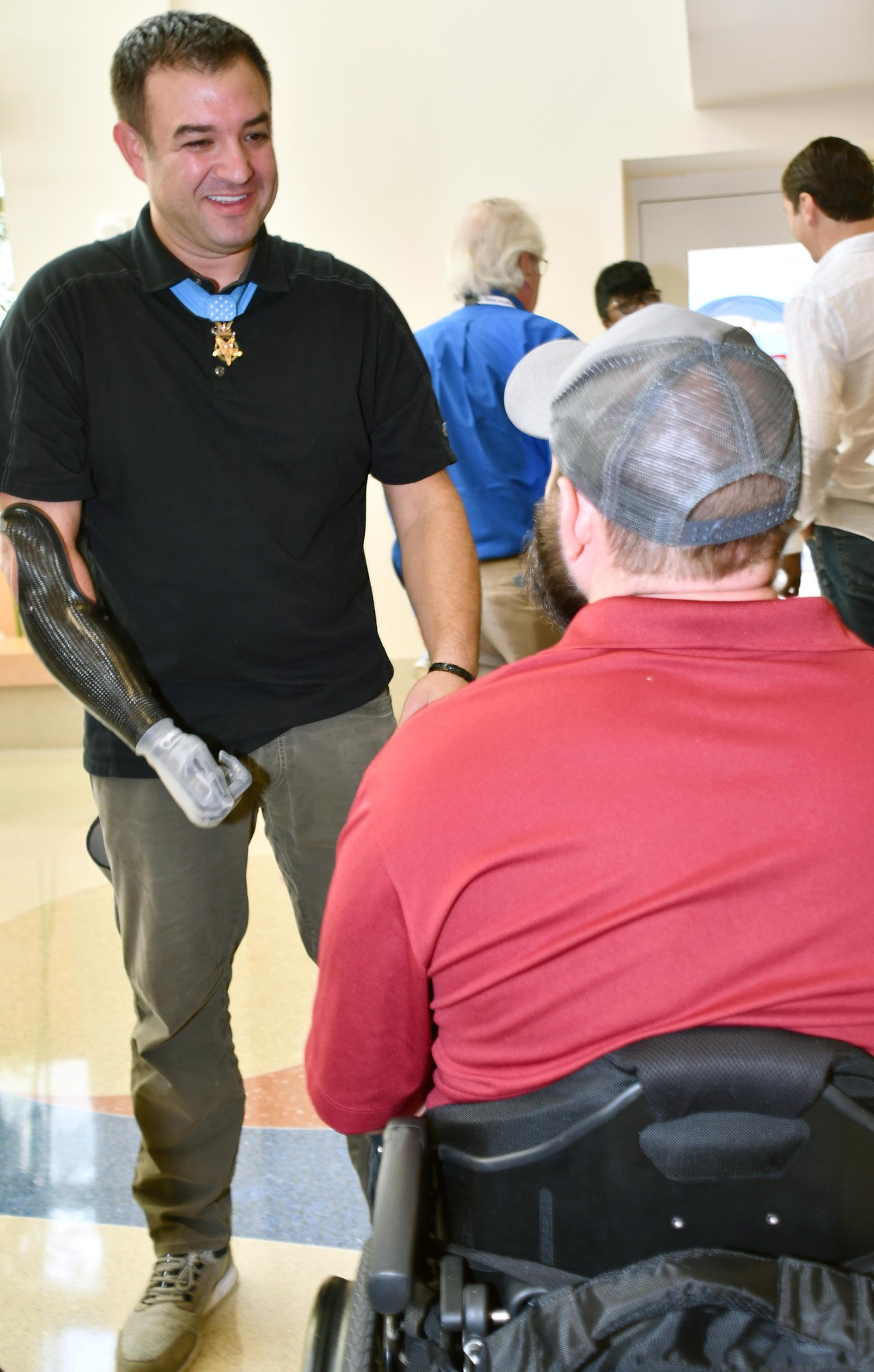 Six Medal of Honor recipients recently visited Tampa VA.