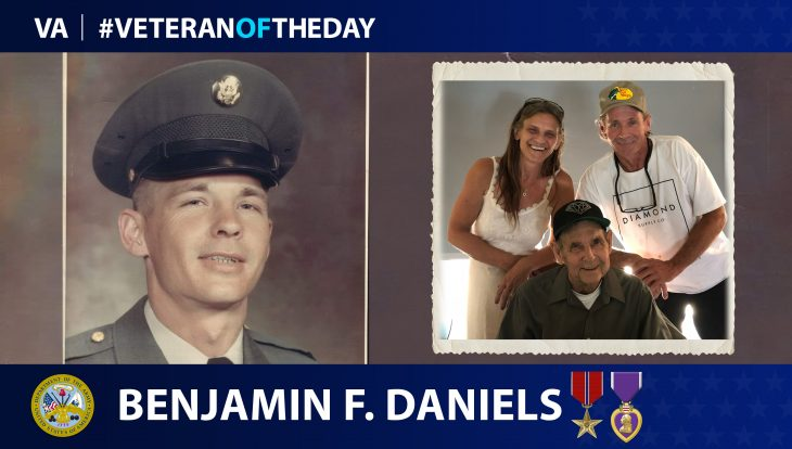 Army Veteran Benjamin F. Daniels is today's Veteran of the Day.