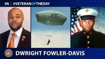 Marine Corps Veteran Dwright Fowler Davis is today's Veteran of the Day.