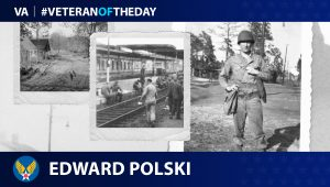Army Air Corps Veteran Edward Polski is today's Veteran of the Day.