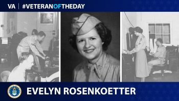 Air Force Veteran Evelyn Rosenkoetter is today's Veteran of the Day.