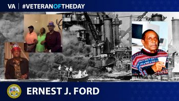 Army Veteran Ernest J. Ford is today's Veteran of the Day.