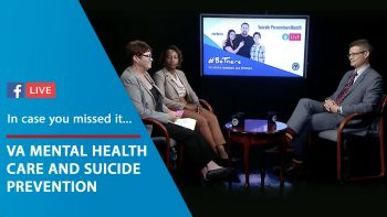 VA and AMVETS Suicide Prevention Month Facebook Live.
